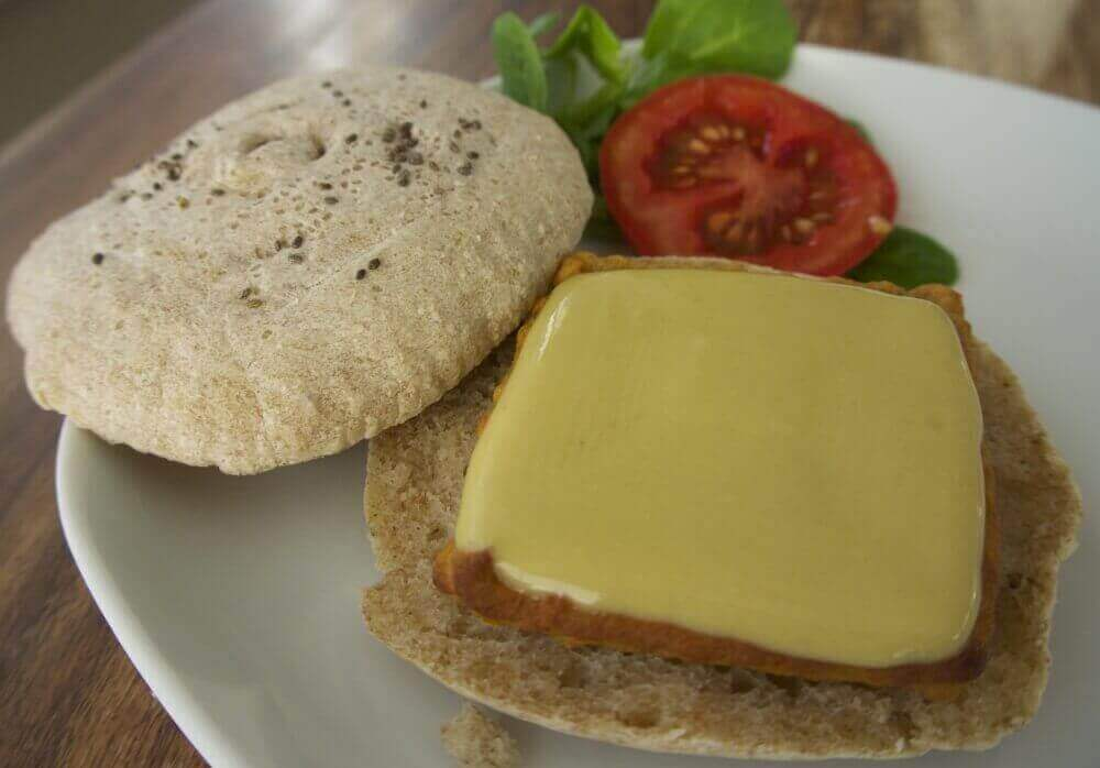Veggie Burger and Cheese