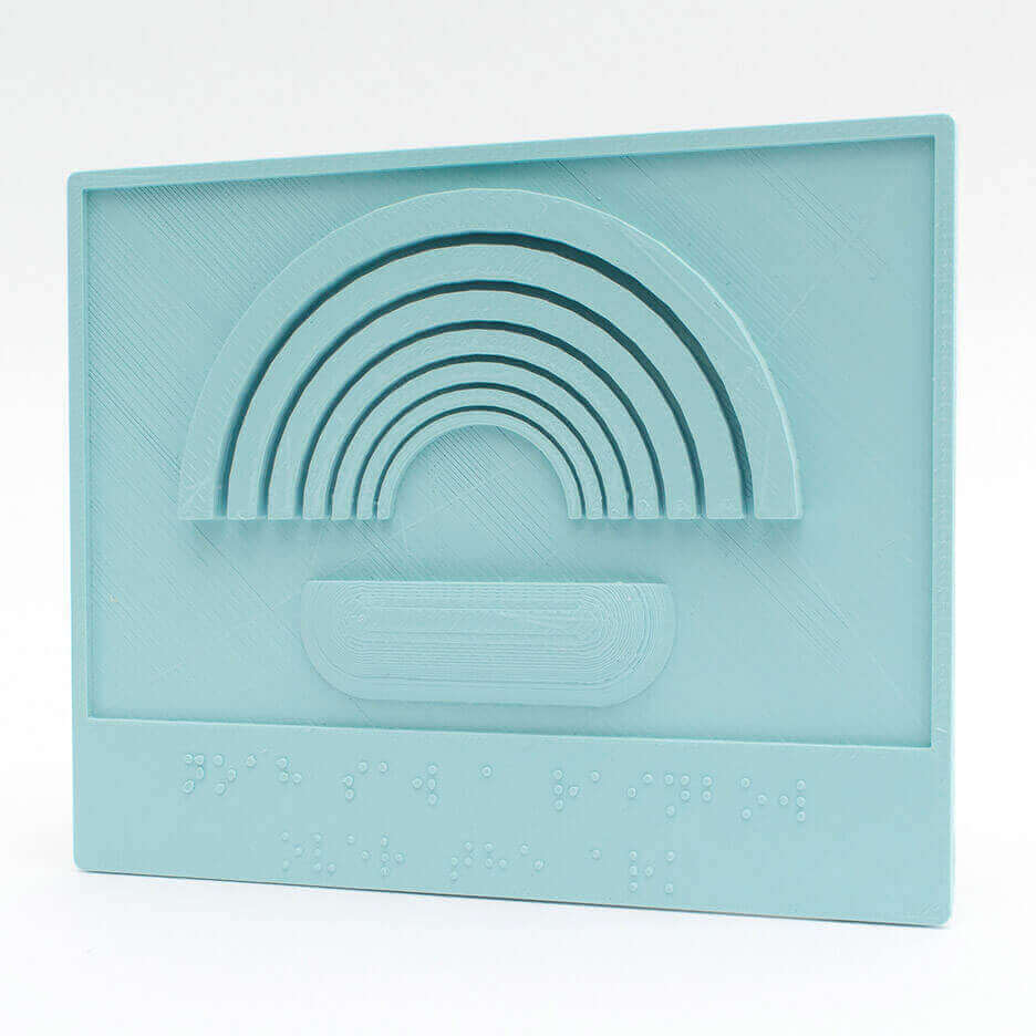 3D Printed Braille Picture Books, Noah's Arc