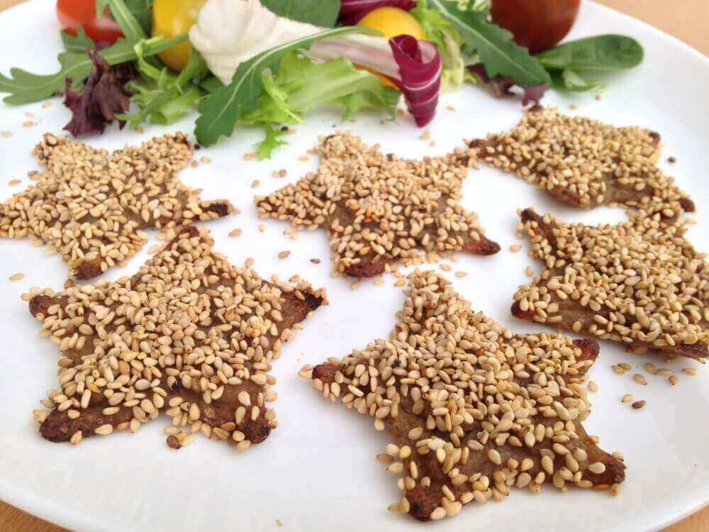 star shaped mushroom croquettes 3d printed food