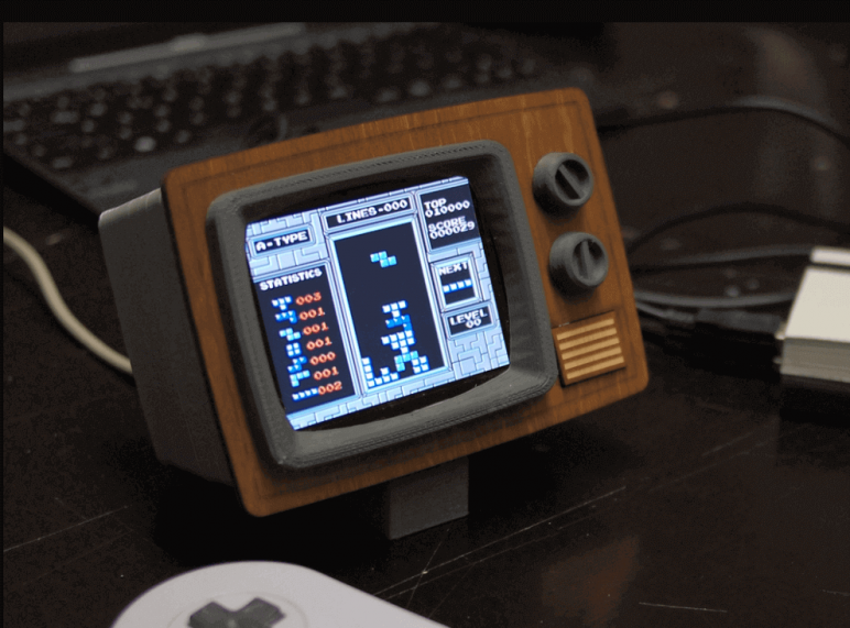 Image of RetroPie Case: RetroPi TV (Case for LCD Screen)