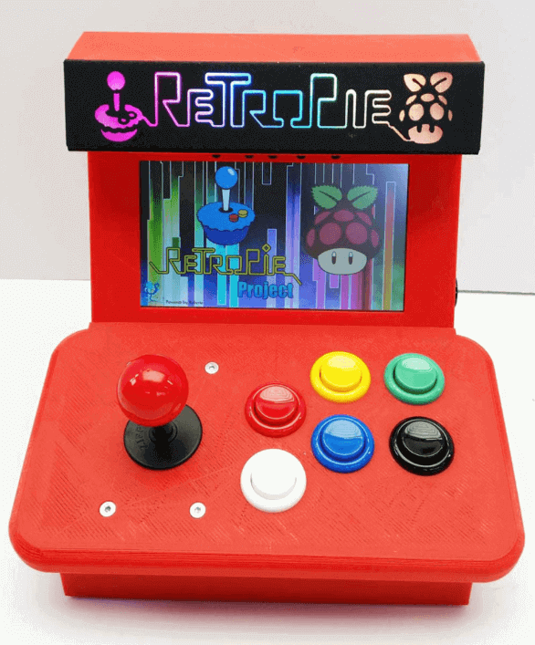Image of RetroPie Case: Mini Arcade (Raspberry Pi Arcade Cabinet Case)