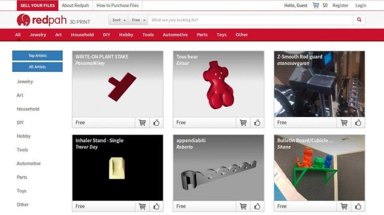 Image of Arquivos STL gratuitos e modelos de impressão 3D: Redpah