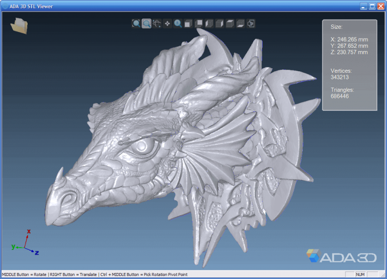 Image of Free STL Viewer for Windows: ADA 3D
