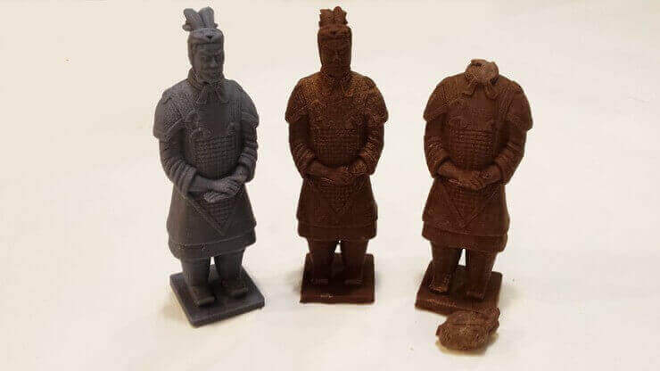 Chocolate Terracotta Warriors From a 3D Printed Mold