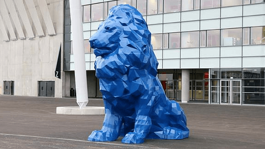 French Soccer Stadium is Guarded by Huge 3D Printed Lions | All3DP