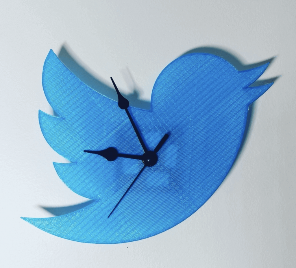 3D printed clock Twitter