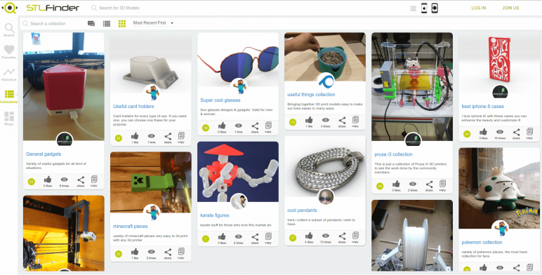 Image of Arquivos STL gratuitos e modelos de impressão 3D: STLFinder