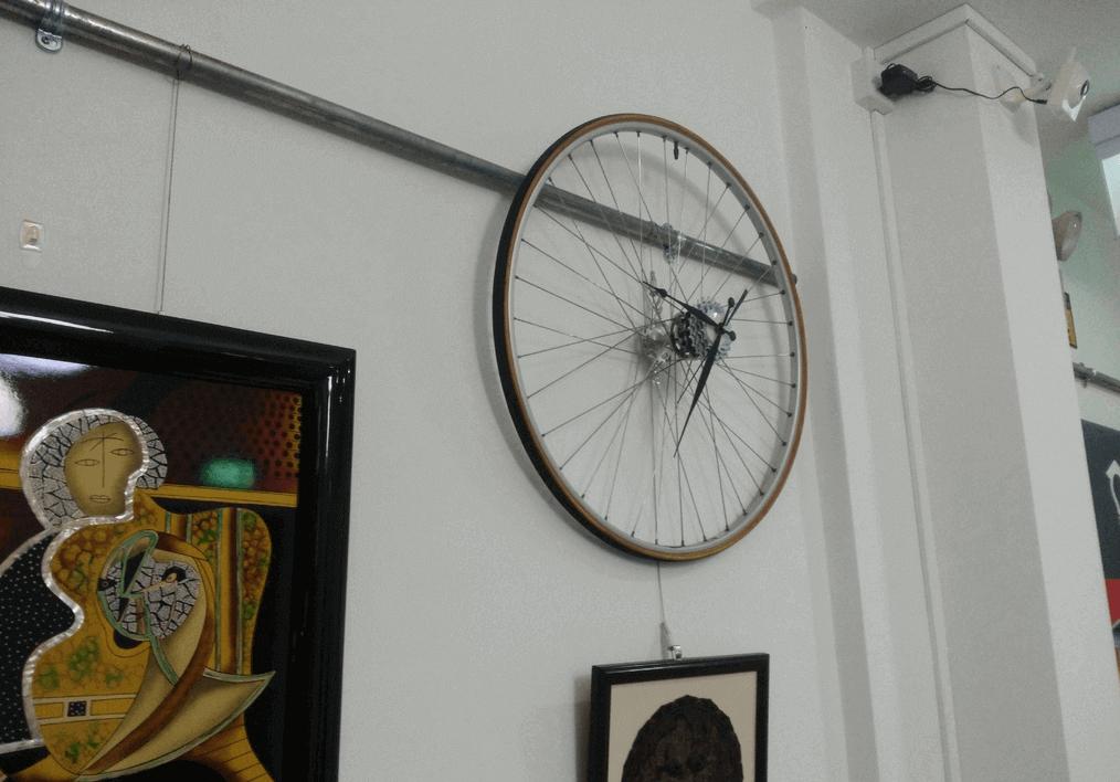 Bicycle Wheel Clock