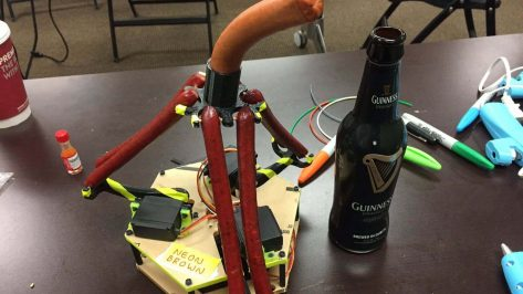 Featured image of Neon Brown: 3D Printed Sausage Robot Wars