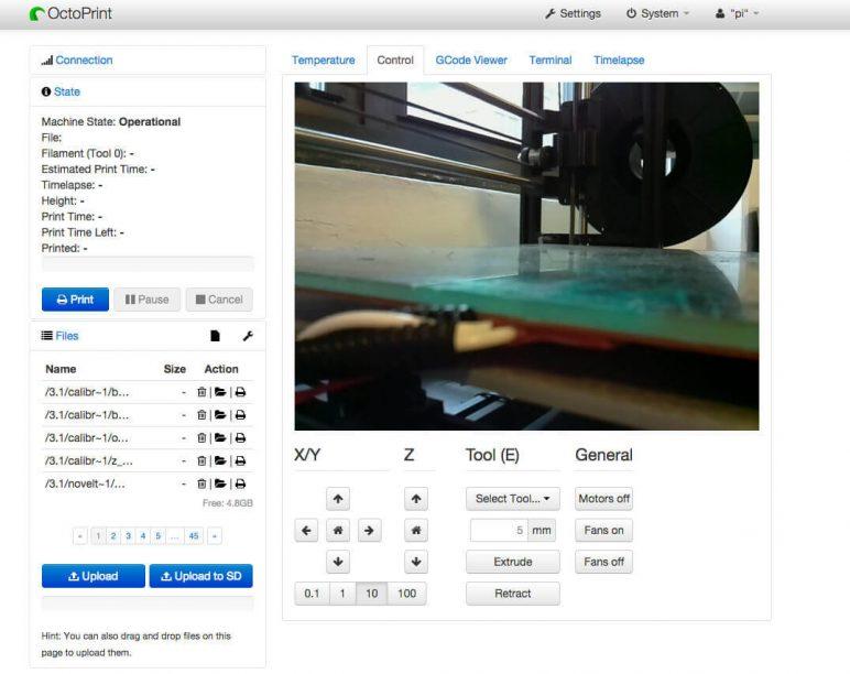 Image of Proyectos Raspberry Pi que puedes imprimir en 3D: Octoprint