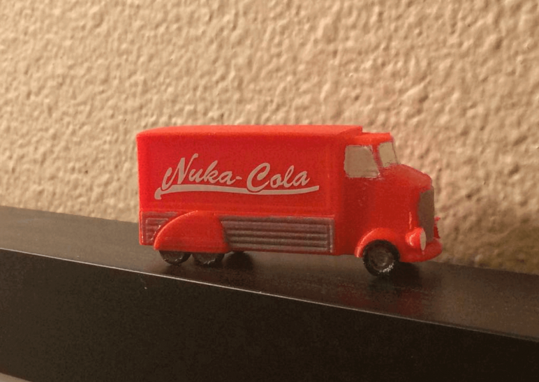 Image of Fallout Props & Toys to 3D Print: Nuka-Cola Truck
