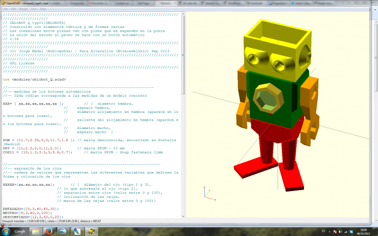 Image of 3D Programm/ 3D-Zeichenprogramm/ 3D-CAD-Freeware & Software / 3D-Modeling-Software: OpenSCAD