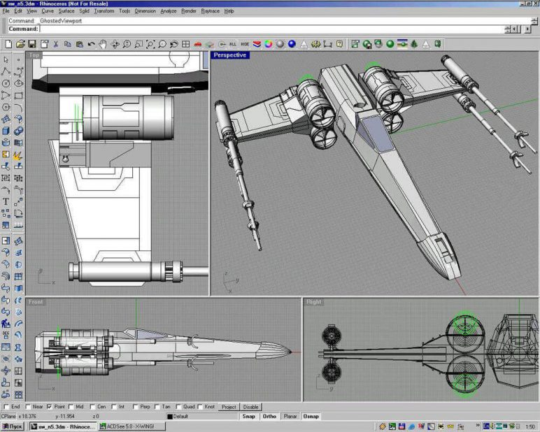 Image of 3D Programm/ 3D-Zeichenprogramm/ 3D-CAD-Freeware & Software / 3D-Modeling-Software: Rhino3D