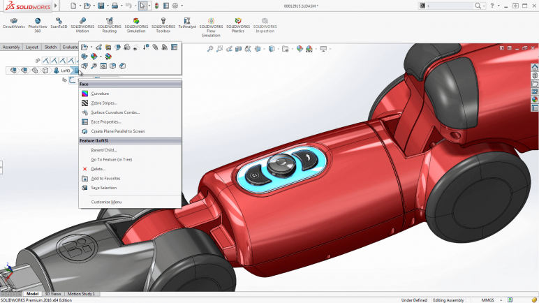 Image of 3D Programm/ 3D-Zeichenprogramm/ 3D-CAD-Freeware & Software / 3D-Modeling-Software: Solidworks