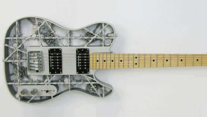 This is the World's First 3D Printed Aluminum Guitar | All3DP
