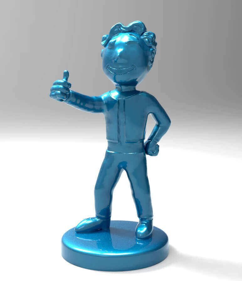 image of fallout props toys to 3d print vault boy bobblehead