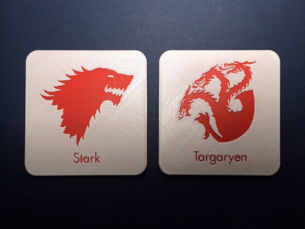 Image of Game of Thrones 3D Models to 3D Print: House Beverage Coasters