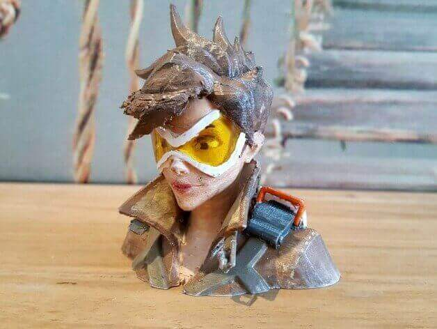 Image of Overwatch 3D Models: Tracer Bust