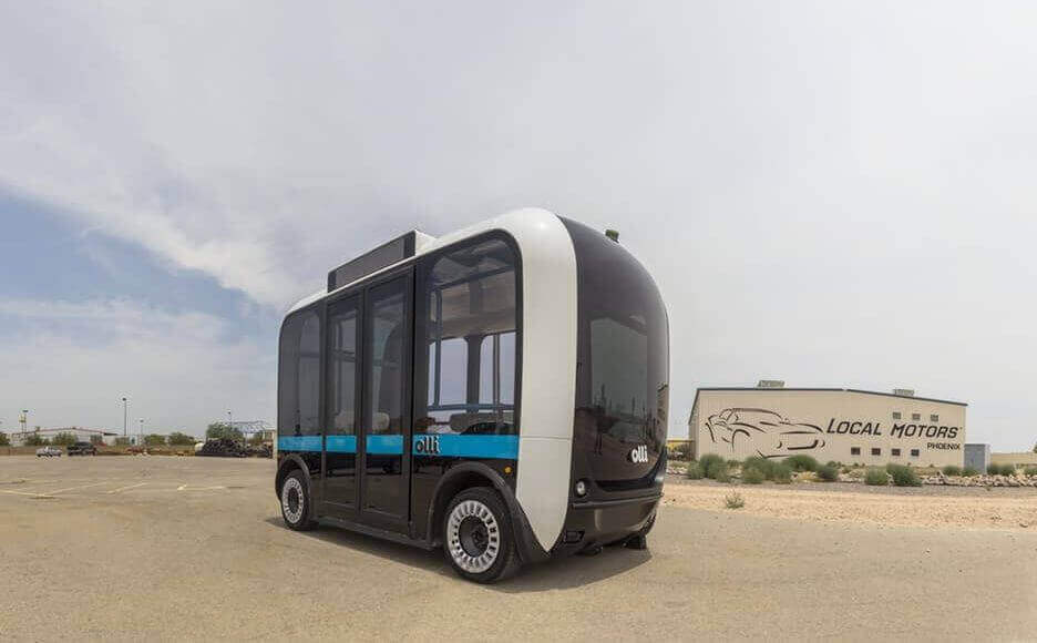 3D Printed Autonomous Bus, Olli (Image: Local Motors)