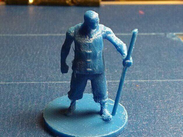 image of 3d printed rpg dd miniatures monk