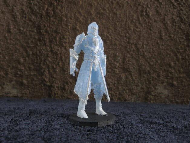 image of 3d printed rpg dd miniatures warrior