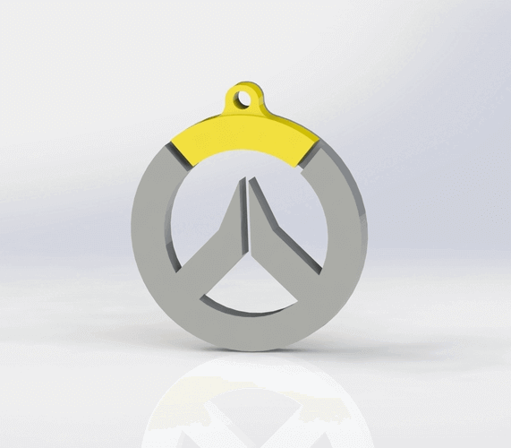 Image of Overwatch 3D Models: Logo Keychain