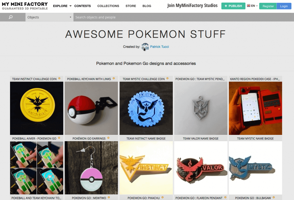 Free Pokemon Go 3D models on MyMiniFactory