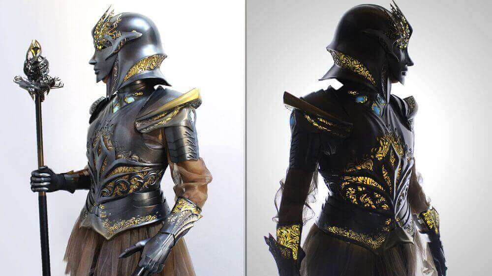 Stunning Sovereign Armor from 91 3D Printed Pieces | All3DP