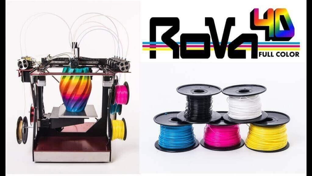 RoVa4D Full Colour Blender 3D Printer on Kickstarter | All3DP