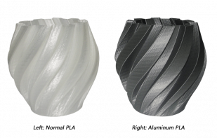 Product image of Aluminum PLA Filament