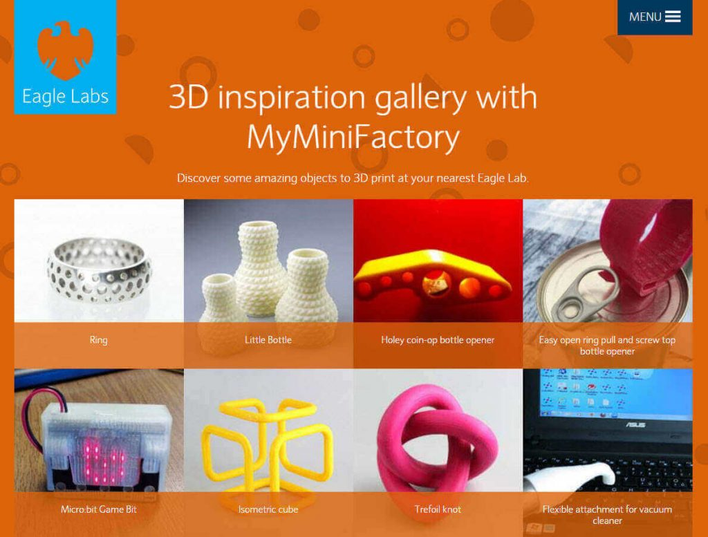 Barclays Eagle Labs Partnering with MyMiniFactory | All3DP