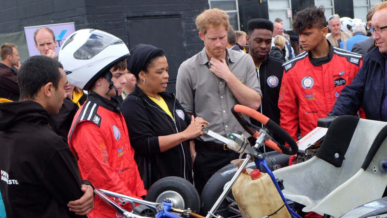 Prince Harry Witnesses 3D Printed Race Karts in Action | All3DP