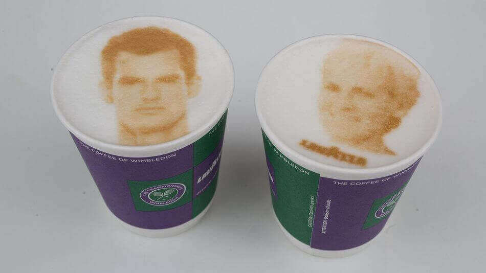 Wimbledon Coffee Machine Prints Selfies onto your Drink | All3DP