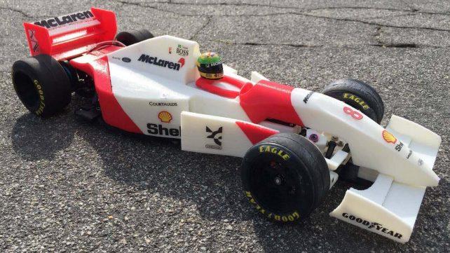 Featured image of 3D Printed Replica of Ayrton Senna's 1993 Mclaren F1 Car