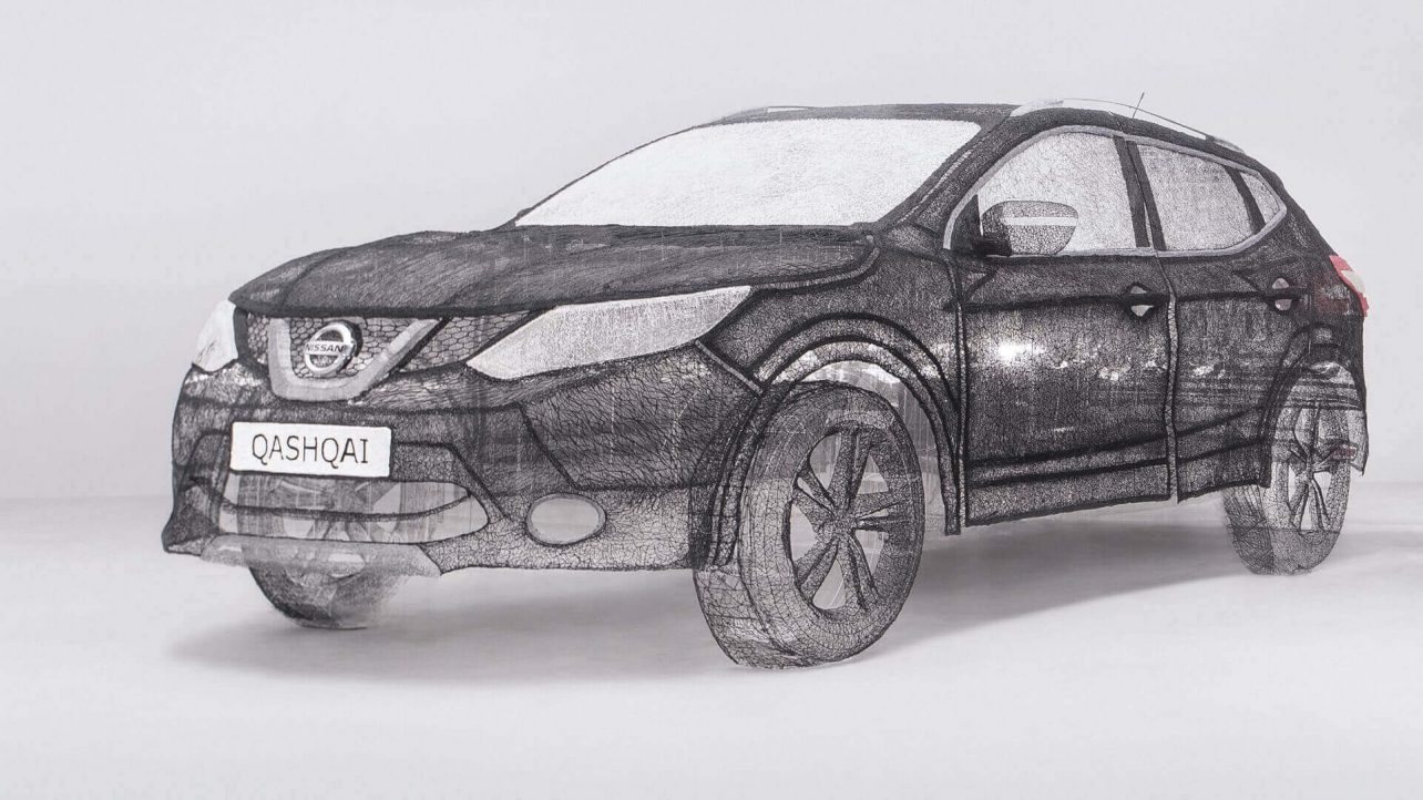 Featured image of nissan qashqai is worlds largest 3d pen sculpture what car