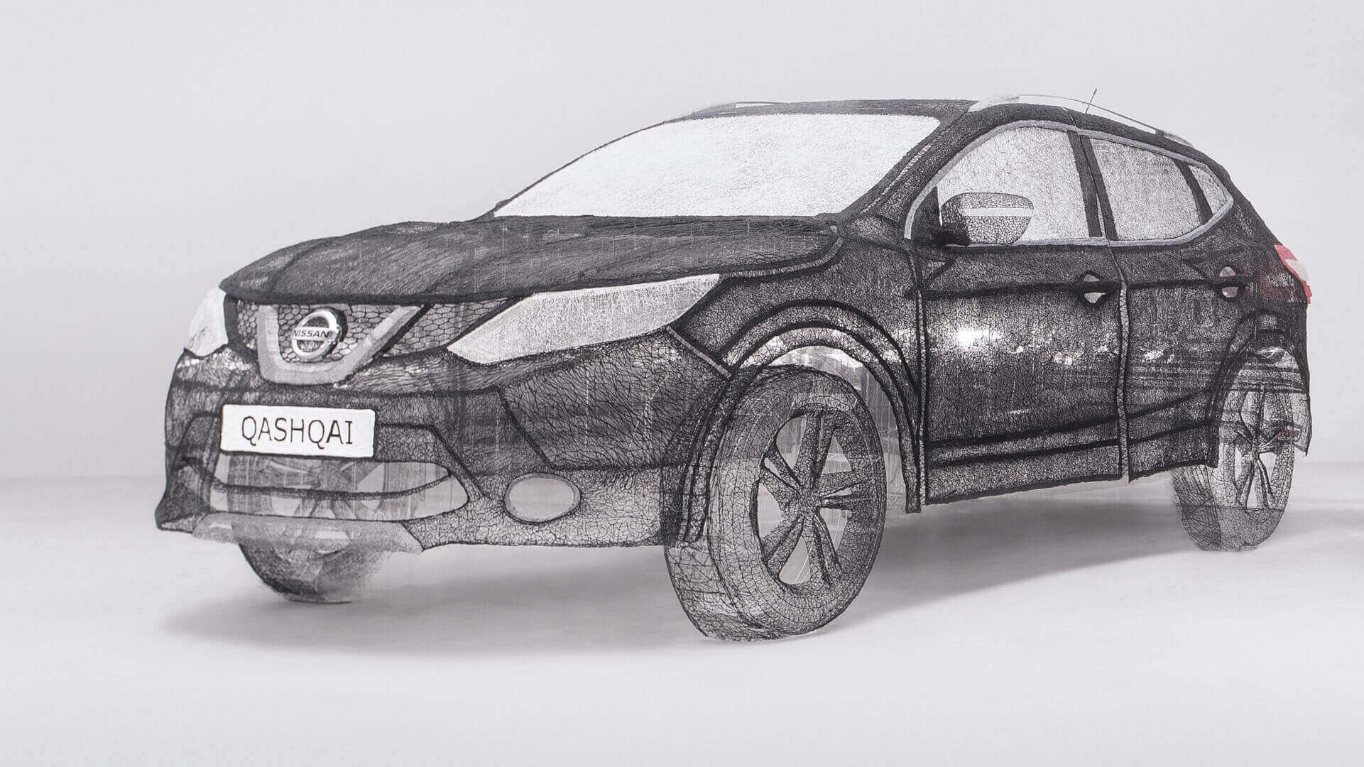 Nissan Qashqai is World's Largest 3D Pen Sculpture | All3DP