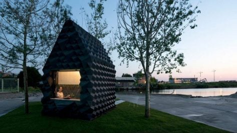 Featured image of DUS Architects Build 3D Printed Urban Cabin in Amsterdam
