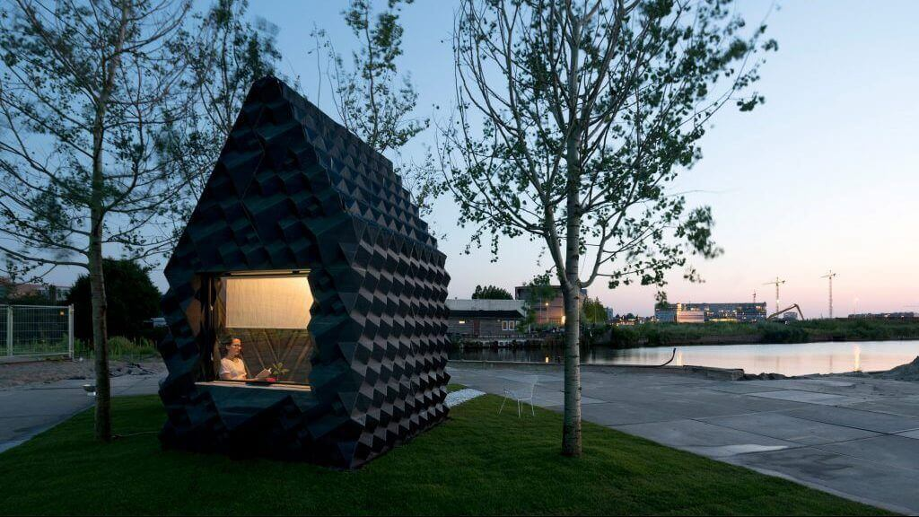 DUS Architects Build 3D Printed Urban Cabin in Amsterdam | All3DP