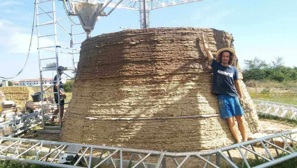 WASP are 3D Printing a Shelter Built from Clay and Straw | All3DP