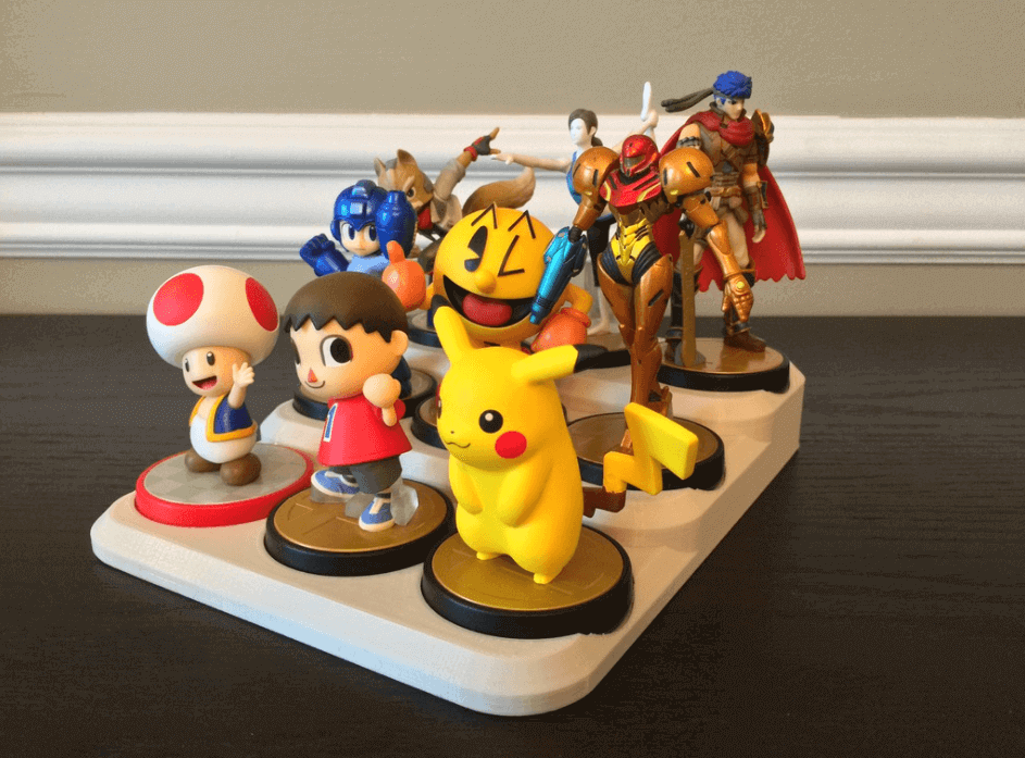 Amiibo Stand Collection Storage and Display Tray