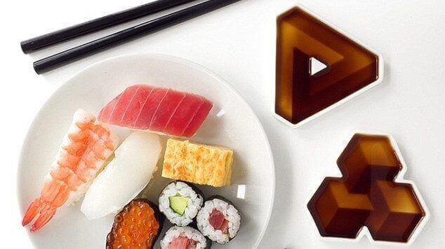 Soy Shape Containers create Optical Illusions for Sushi Lovers | All3DP