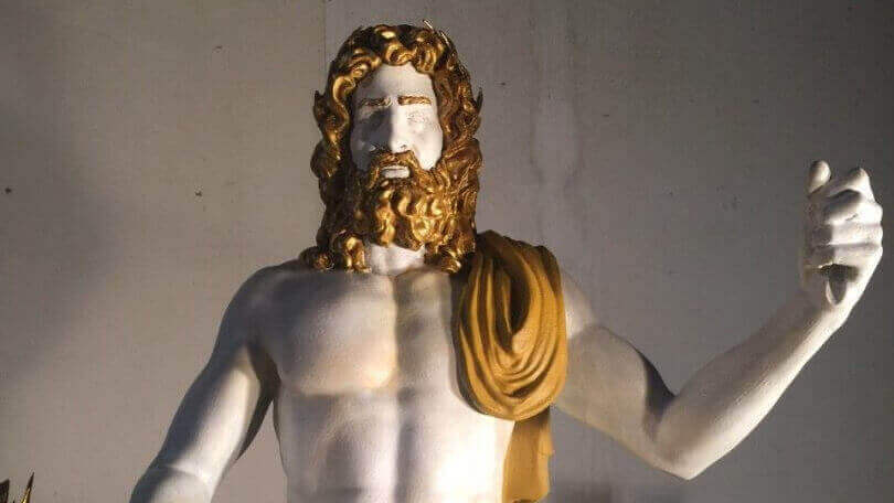 Ancient Statue of Zeus Resurrected for Olympics with 3D printing