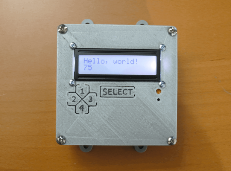 Image of Arduino Cases to 3D Print: LCD Button Faceplate