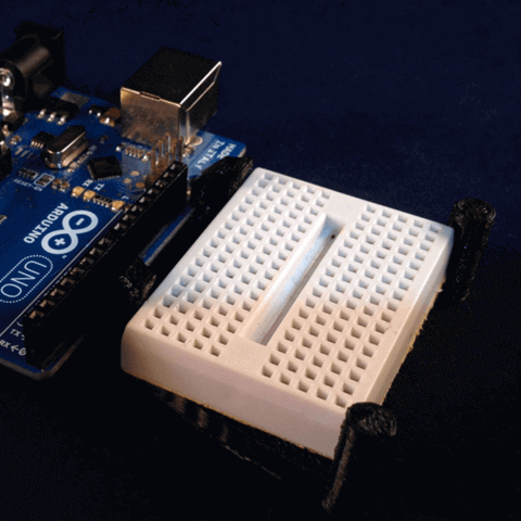 Image of Arduino Cases to 3D Print: Arduino and Mini Breadboard Caddy