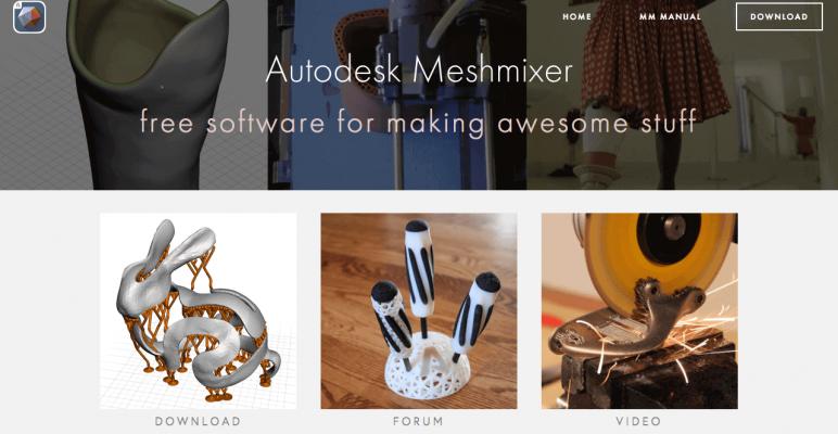 Image of Best Free CAD Software (2D/3D CAD Programs): Meshmixer