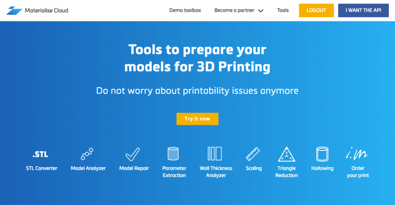 Image of 18 Best STL Repair Software Tools of 2018: Materialise Cloud