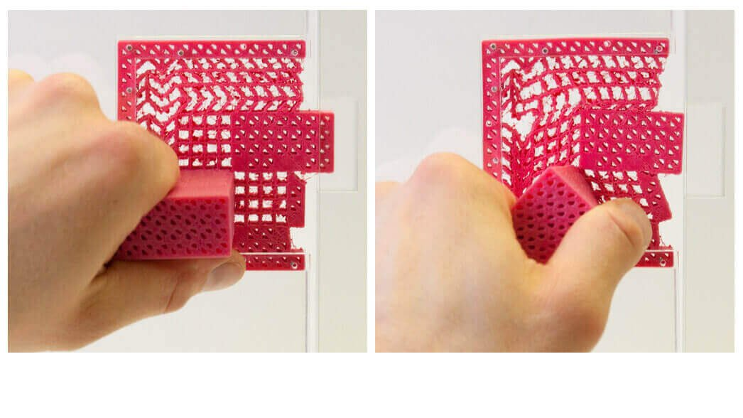 Metamaterial Mechanisms: 3D Printed Door Handle & No Moving Parts | All3DP