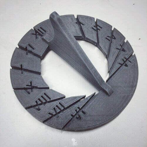 3D printed sundials sundial #2