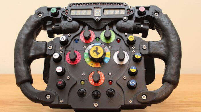 3D Printed Formula One Wheel is Perfect for Racing Sims | All3DP