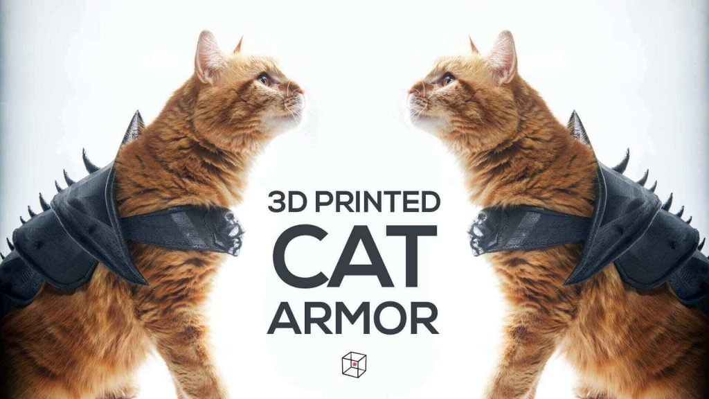 30 3D Printed Objects For Your Pet Cat Armour